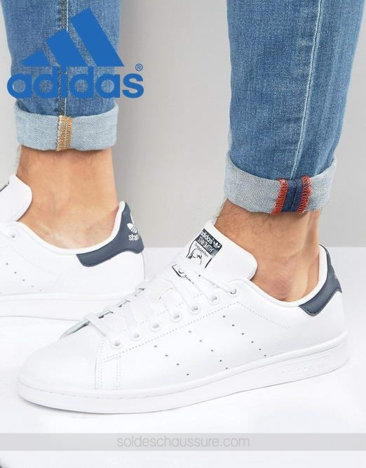 Adidas Originals Stan Smith en cuir Blanc ∗ {Adidas Soldes} - Adidas Originals Stan Smith en cuir Blanc ∗ {Adidas Soldes}-01-0