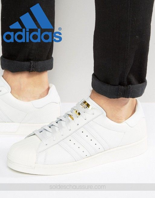 Adidas Originals Superstar Boost Blanc - {Basket Adidas Pas Cher} - Adidas Originals Superstar Boost Blanc {Basket Adidas Pas Cher}-01-0