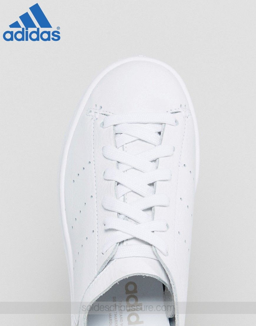 (Boutique En Ligne Adidas) ★★★ Adidas Originals Stan Smith Lea Blanc uni - (Boutique En Ligne Adidas) ★★★ Adidas Originals Stan Smith Lea Blanc uni-01-2