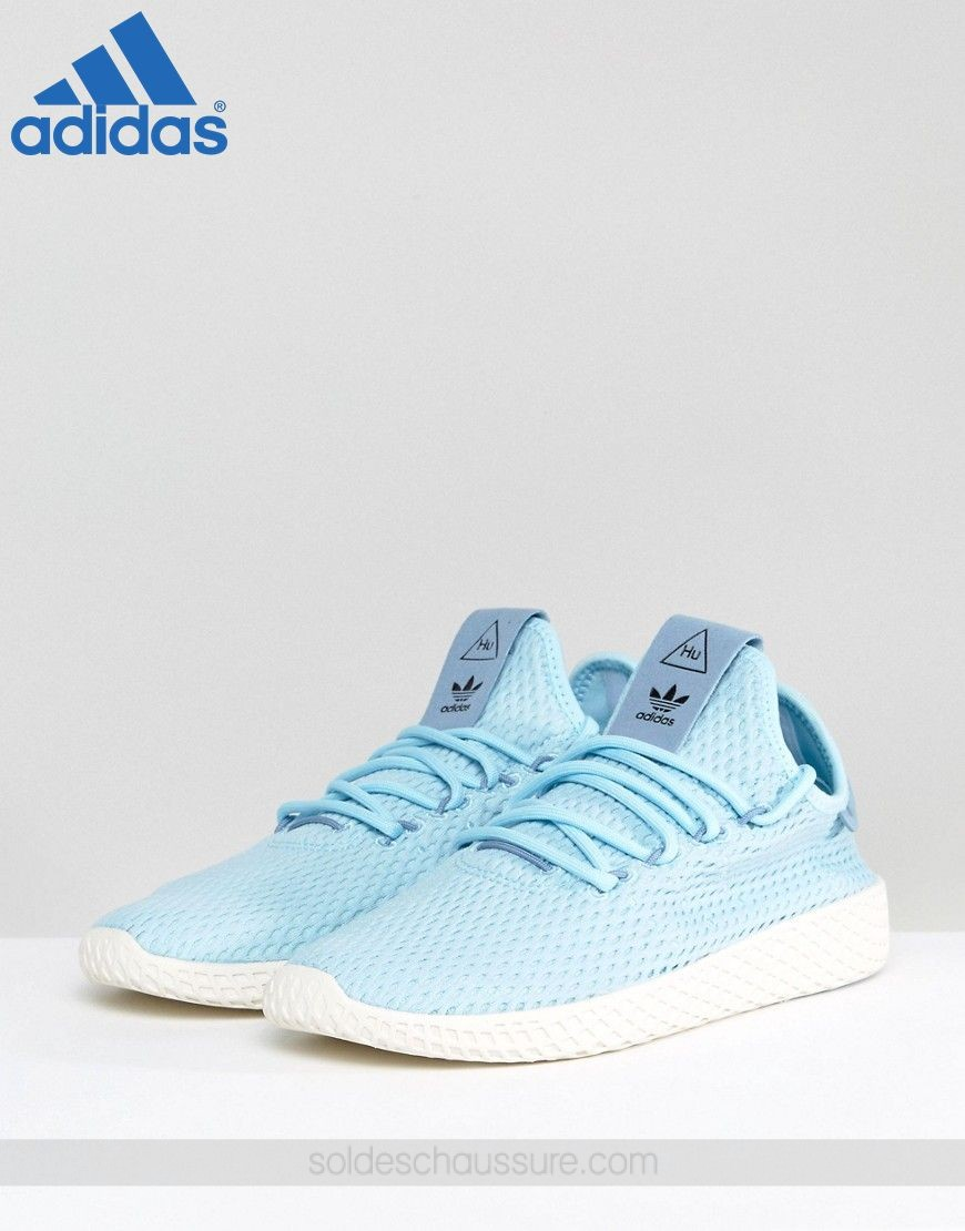 {Adidas En Soldes} ★ adidas Originals x Pharrell Williams Tennis HU Bleu givré - {Adidas En Soldes} ★ adidas Originals x Pharrell Williams Tennis HU Bleu givré-01-1
