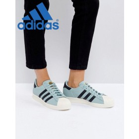 (Promotion Adidas) ∗ Adidas Originals Superstar style 80's Vert sauge
